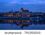 view of the old polish town of... | Shutterstock . vector #791502010