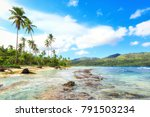 panorama of famous secluded... | Shutterstock . vector #791503234