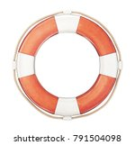 lifebuoy isolated on a white... | Shutterstock . vector #791504098