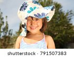 the girl is walking in the... | Shutterstock . vector #791507383