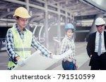engineering construction... | Shutterstock . vector #791510599