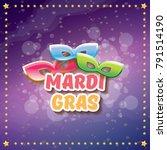 vector new orleans mardi gras... | Shutterstock .eps vector #791514190