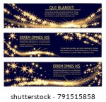 golden glittering magic sparkle ...   Shutterstock .eps vector #791515858
