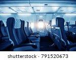 comfortable seats in cabin of... | Shutterstock . vector #791520673