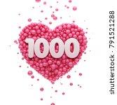 1k or 1000 followers thank you...   Shutterstock . vector #791521288