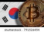 south korea ban bitcoin on...   Shutterstock . vector #791526454