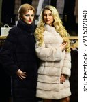 friends in shop  ladies try... | Shutterstock . vector #791532040