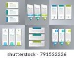 infographic banner template set ... | Shutterstock .eps vector #791532226