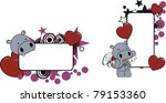 hippo cartoon copyspace in... | Shutterstock .eps vector #79153360