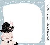 the sheet of sea creatures in... | Shutterstock .eps vector #791537614