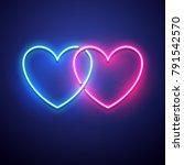 valentines day background.... | Shutterstock .eps vector #791542570