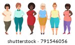 vector cartoon happy and... | Shutterstock .eps vector #791546056