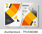 booklet circles design template ... | Shutterstock .eps vector #791548288