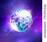vector illustration of disco... | Shutterstock .eps vector #791551336