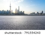 empty asphalt road front of...   Shutterstock . vector #791554243