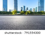 empty asphalt road front of... | Shutterstock . vector #791554300