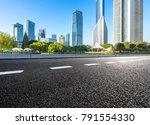 empty asphalt road front of... | Shutterstock . vector #791554330