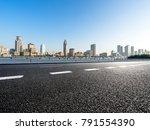 empty asphalt road front of... | Shutterstock . vector #791554390