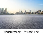 empty asphalt road front of...   Shutterstock . vector #791554420