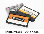 Cassettes Tape Isolated On A...