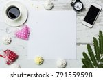 valentines day decoration with...   Shutterstock . vector #791559598