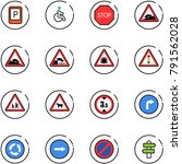 line vector icon set   parking... | Shutterstock .eps vector #791562028