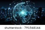 connections system sphere... | Shutterstock . vector #791568166