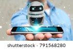 businessman on blurred... | Shutterstock . vector #791568280