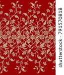 seamless traditional paisley... | Shutterstock . vector #791570818