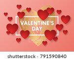 valentines day sale banner... | Shutterstock .eps vector #791590840