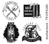 set of vintage camping emblems  ... | Shutterstock .eps vector #791593180