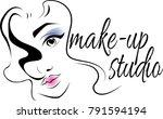 make up logo for beauty studio. ...   Shutterstock .eps vector #791594194