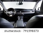 dark luxury car interior  ... | Shutterstock . vector #791598373
