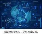 abstract technology ui... | Shutterstock .eps vector #791600746