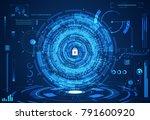abstract technology ui... | Shutterstock .eps vector #791600920