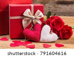 happy valentines day and heart. ... | Shutterstock . vector #791604616