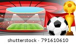 soccer stadium during sports... | Shutterstock .eps vector #791610610