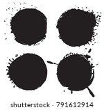grunge round shape.vector... | Shutterstock .eps vector #791612914