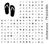 flip flops icon illustration... | Shutterstock .eps vector #791616484