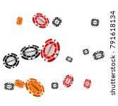 pattern with casino chips... | Shutterstock .eps vector #791618134