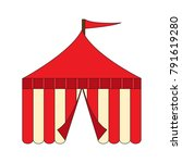 carnival tent on a white... | Shutterstock .eps vector #791619280