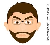 avatar of a angry man  vector... | Shutterstock .eps vector #791619310