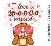 cute sloth character with... | Shutterstock .eps vector #791622718