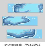 abstract banner template with... | Shutterstock .eps vector #791626918