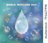 world wetlands day design....   Shutterstock .eps vector #791627998