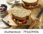 sweet homemade gourmet peanut... | Shutterstock . vector #791629456