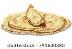 illustration of traditional... | Shutterstock .eps vector #791630380