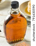 raw organic amber maple syrup... | Shutterstock . vector #791630590