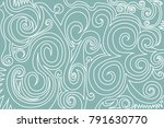 decorative waves pattern. blue... | Shutterstock .eps vector #791630770