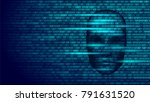 hacker artificial intelligence... | Shutterstock .eps vector #791631520